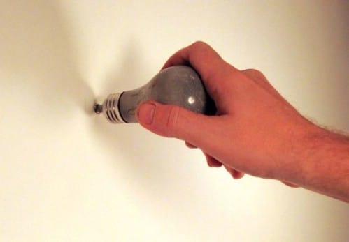 Concrete Light Bulb Wall Hooks - 15 Unusual and Creative Repurposed Wall Hooks