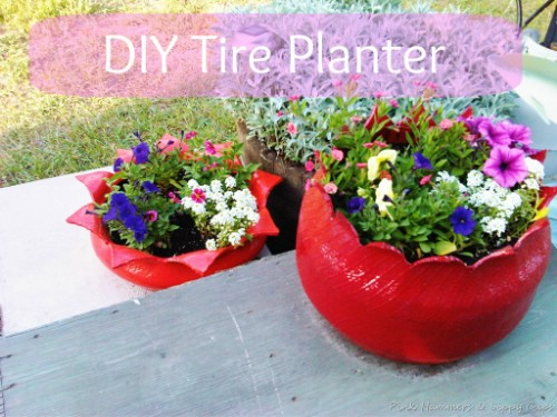 beautiful planters - Garden Ideas Using Tyres