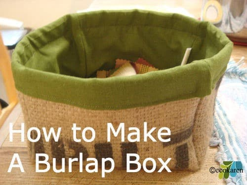 Burlap Fabric Box