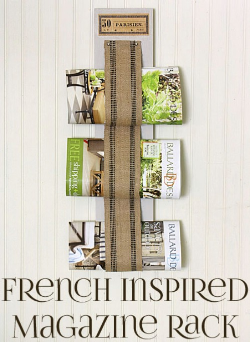 French Inspired Magazine Rack