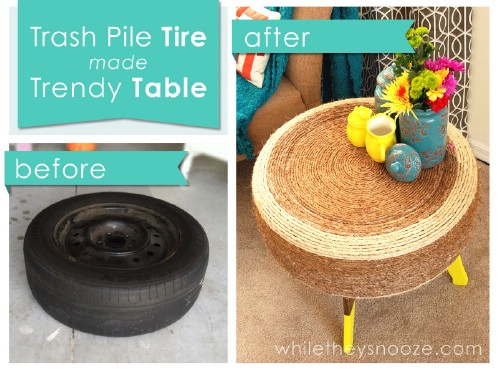 20 genius ways to repurpose old tires into something new and diy instructions and project credit whiletheysnooze a great table solutioingenieria