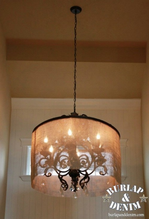 Barrel Shade Chandelier