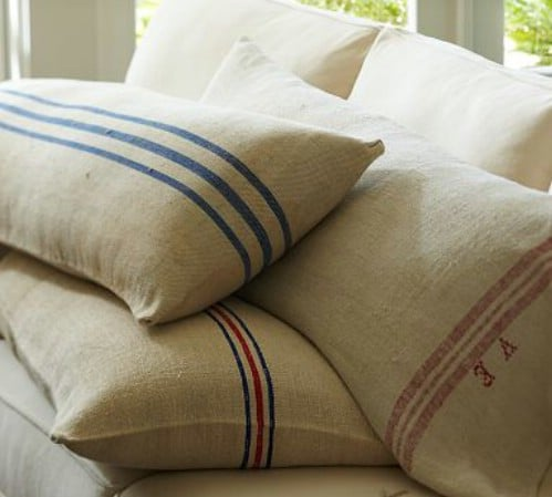 Vintage Inspired Feedbag Pillows