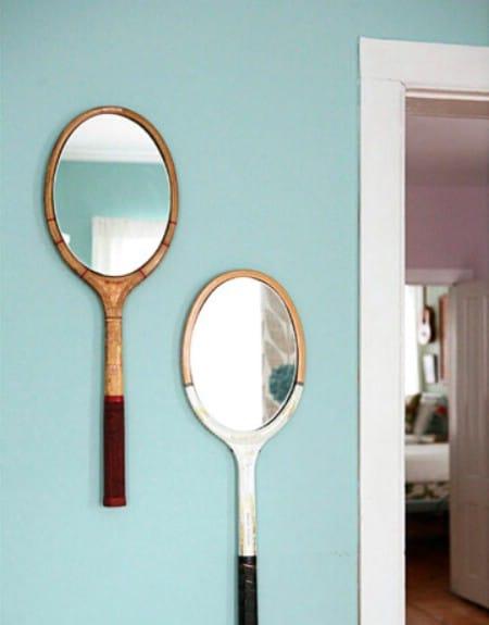 Make Mirrors From Broken Rackets