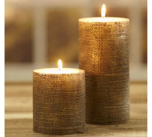 Pottery Barn Inspired Burlap Candle