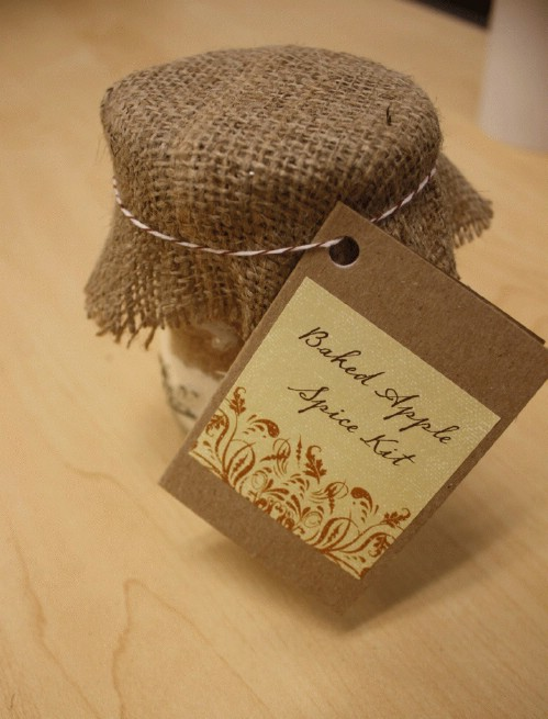 Burlap Covered Gifts in a Jar