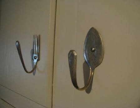 Use Bent and Broken Silverware For Drawer Pulls