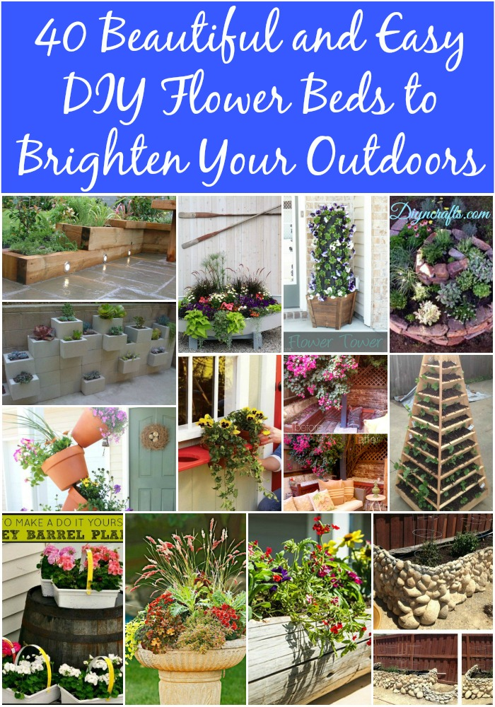 40 Beautiful And Easy DIY Flower Beds To Brighten Your Outdoors   DIY U0026  Crafts