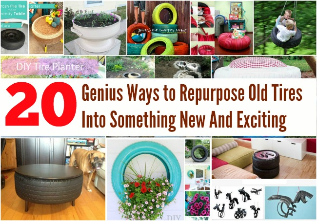 20 genius ways to repurpose old tires into something new and exciting diy crafts. Black Bedroom Furniture Sets. Home Design Ideas