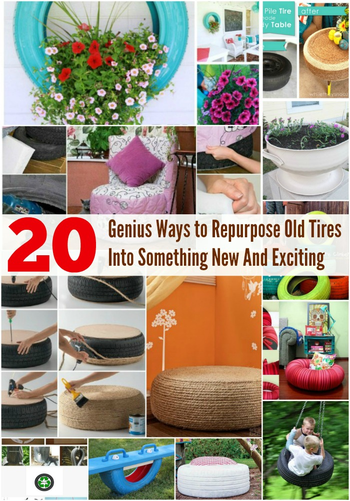 20 Genius Ways to Repurpose Old Tires Into Something New And Exciting