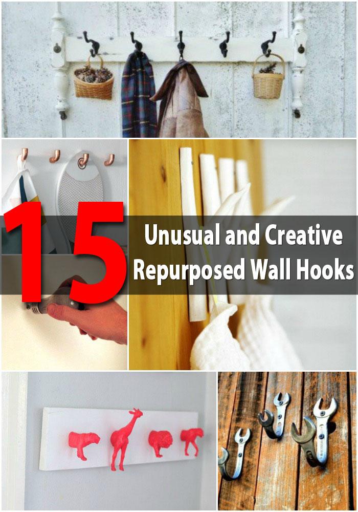 15 Unusual and Creative Repurposed Wall Hooks
