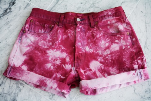 Flowery Tie Dyed Cut-Offs