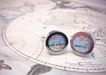 DIY Map Cufflinks