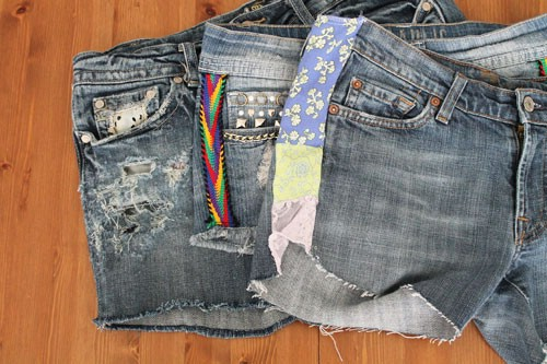Distressed with Fabric Panels