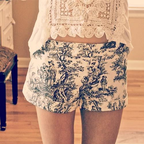 Victorian Print Shorts