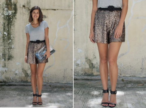 DIY Sequined Shorts