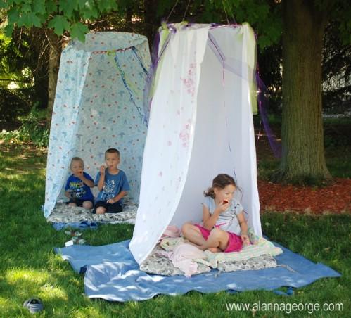 Make the Kids a Hula Hoop Hideout
