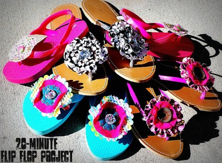 214daae80fd761 15 Super Comfortable Flip-Flops and Sandals You Can DIY - DIY   Crafts