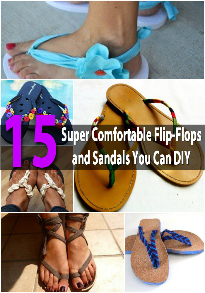15 super comfortable flip flops and sandals you can diy