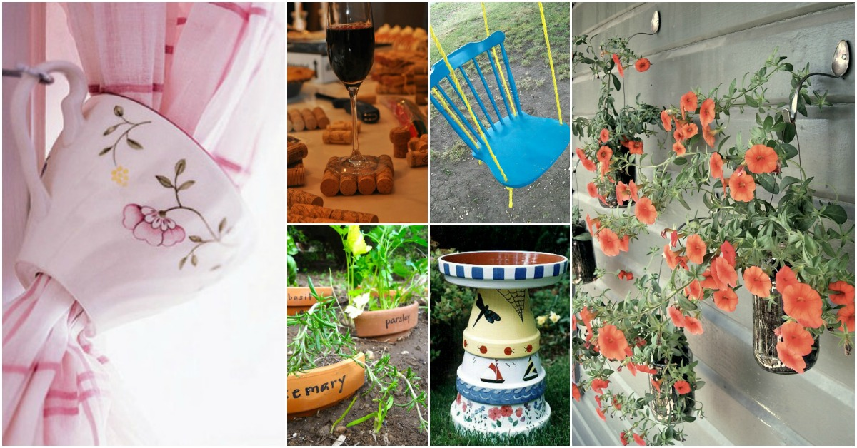 100 ways to repurpose and reuse broken household items diy crafts