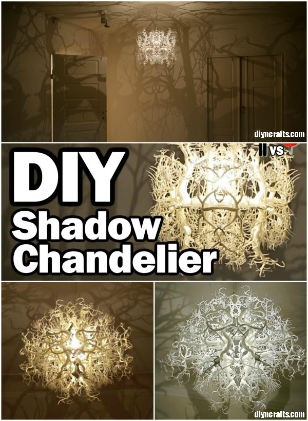 Amazing diy shadow chandelier inspired by nature diy crafts brilliant diy shadow chandelier inspired by nature aloadofball