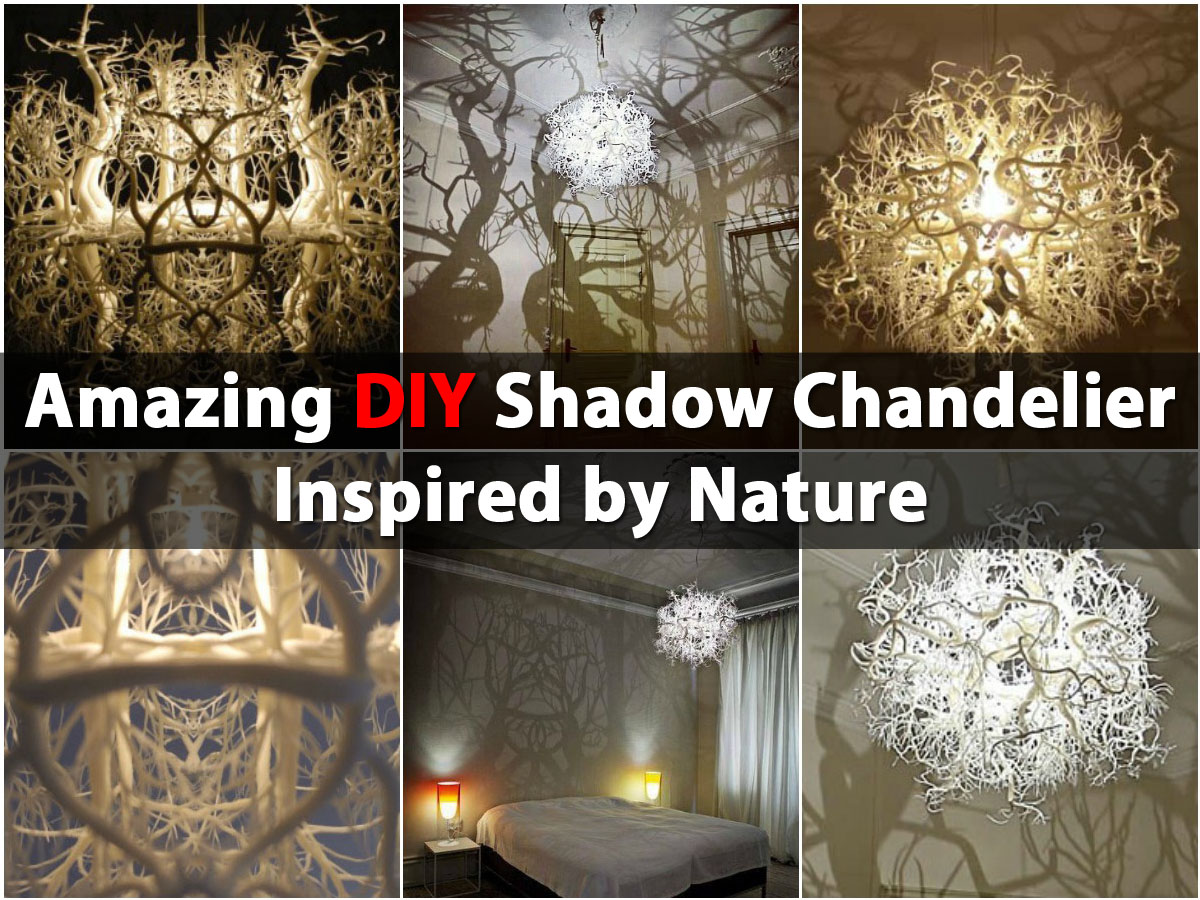 Amazing diy shadow chandelier inspired by nature diy crafts aloadofball