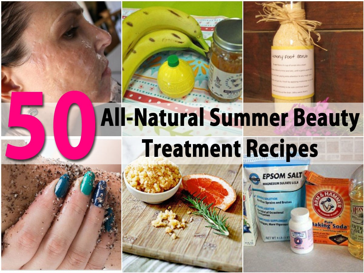 50 all natural summer beauty treatment recipes diy crafts forumfinder Image collections