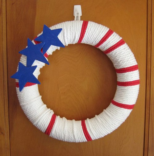 Stars and Stripes Rope Wreath