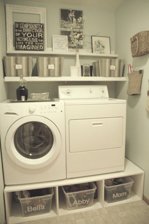 30 brilliant ways to organize and add storage to laundry rooms diy crafts - Washing machines for small spaces photos ...