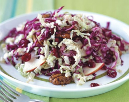 Red Cabbage Cherry Apple Slaw