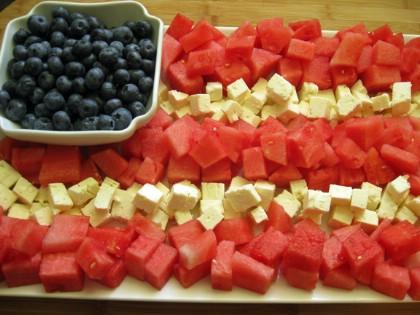 Watermelon Feta Flag