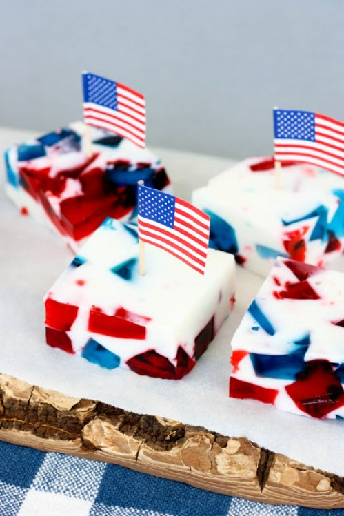 Patriotic Stained Glass Jell-O