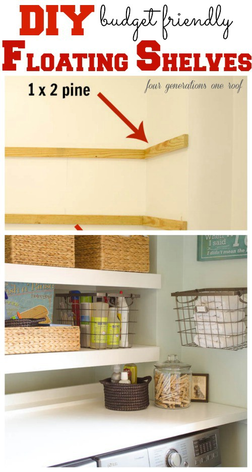 30 brilliant ways to organize and add storage to laundry rooms diy diy floating shelves solutioingenieria