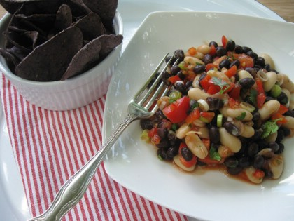 Red White and Black Bean Salad