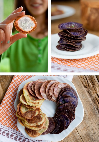 Red White and Blue Baked Potato Chips