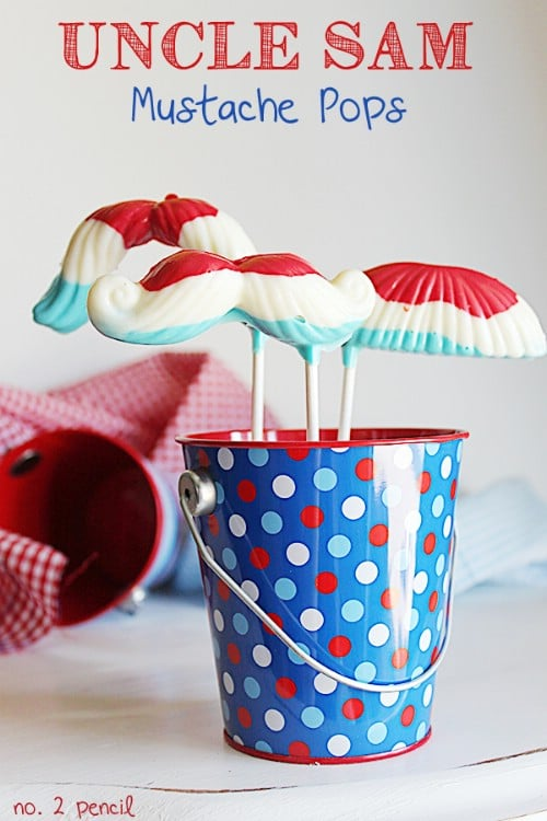 Uncle Sam Mustache Pops