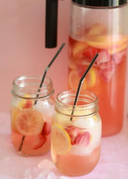 White Strawberry Lemon Sangria