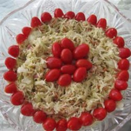 Red White and Blue Slaw Salad