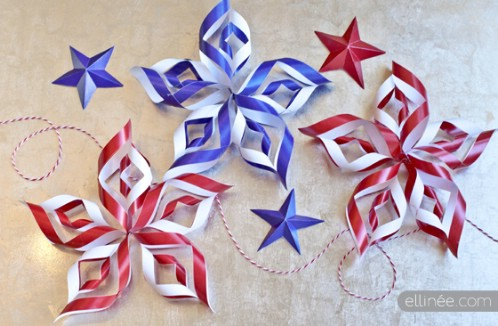 4th of July Paper Stars