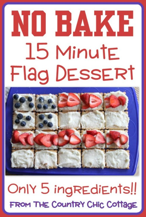 No Bake Flag Dessert