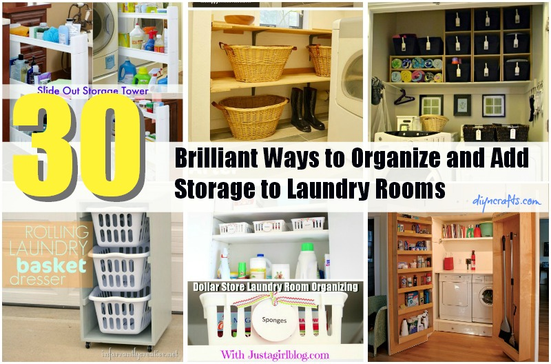 Charmant 30 Brilliant Ways To Organize And Add Storage To Laundry Rooms   DIY U0026  Crafts