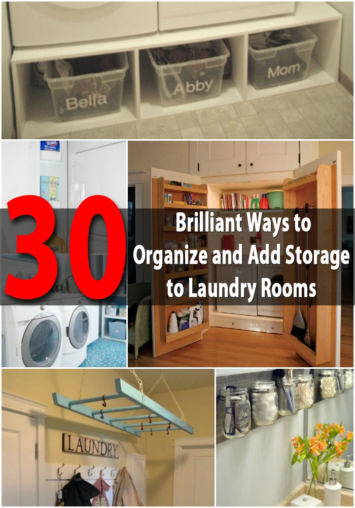 30 brilliant ways to organize and add storage to laundry for How to add a laundry room to your house