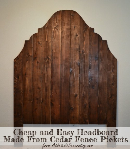 Cedar Fence Picket Headboard