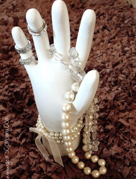 Plaster Hand Ring Holder
