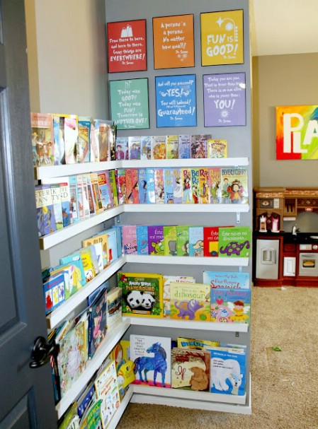 DIY Playroom Library