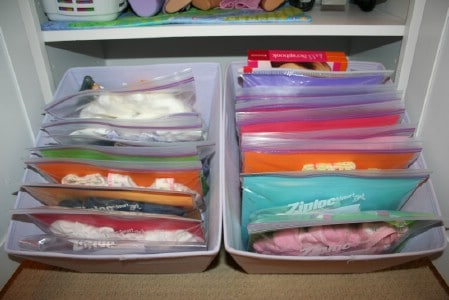 Doll Clothes Organization