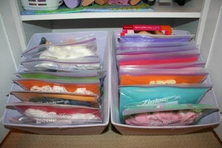 Doll Clothes Organization