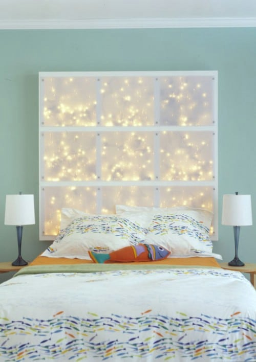 Diy Instructions And Project Credit Apartmenthterapy Starry Window Headboard