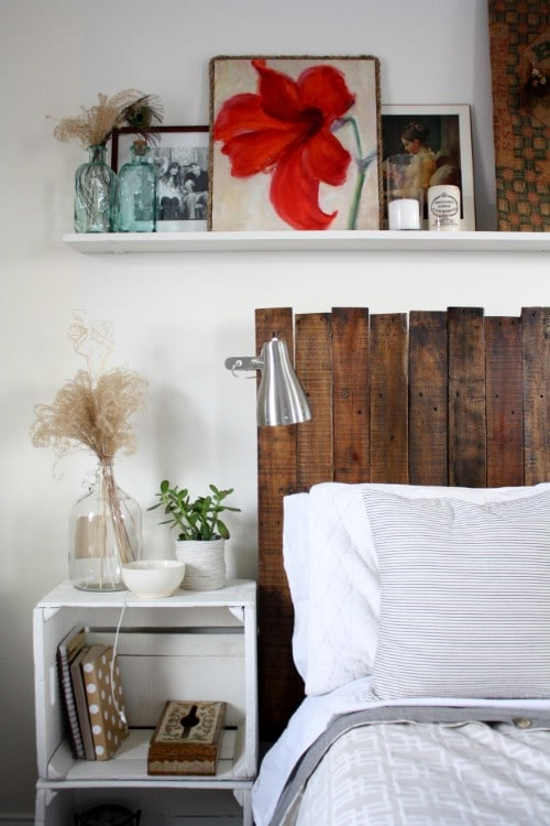 Do It Yourself Headboard Ideas Part - 30: DIY Instructions And Project Credit U2013 Ricedesignblog. Rustic Pallet  Headboard