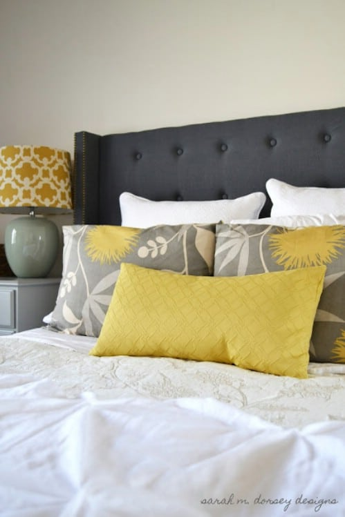 Cheap Headboard Ideas Part - 33: Buttoned Down Headboard